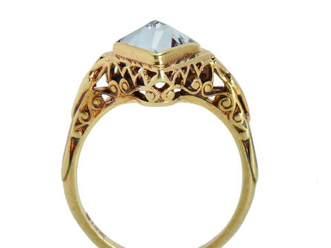 Renaissance Rise - Aquamarine Filigree Ring