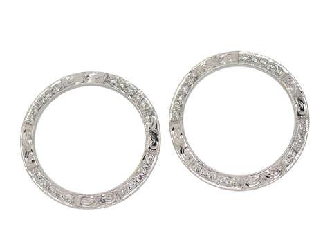 Two Diamond Wedding Band Guard Rings
