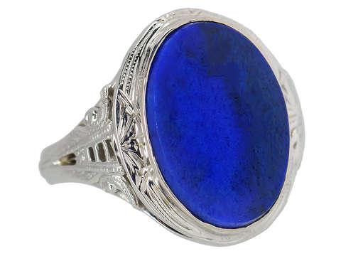 Nightfall- Vintage Lapis Lazuli Ring