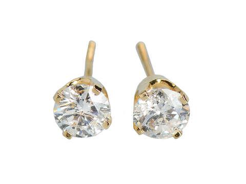 Vintage Diamond Stud Earrings