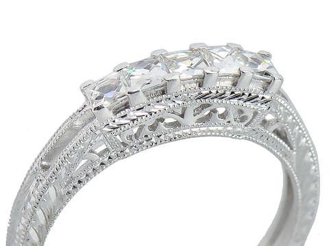 Tres Jolie - French Cut Diamond Ring