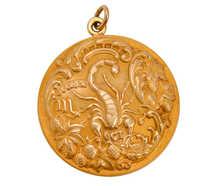 Antique Sloan & Co. Scorpio Zodiac Pendant