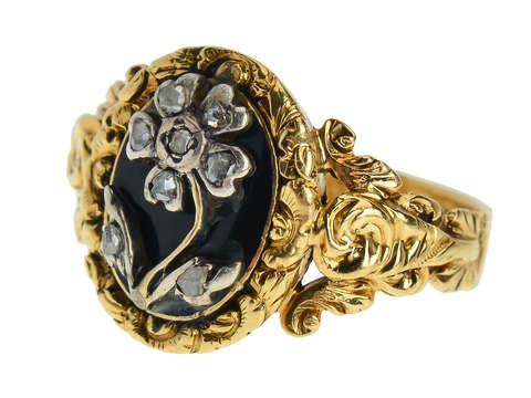 Georgian Rose Cut Diamond Flower Ring