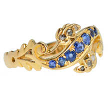 History Unfolds - Sapphire Swirl Ring of 1909