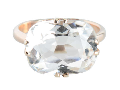 Mid Century Russian Rock Crystal Ring