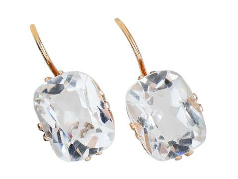 Rock the Look - Crystal Quartz Vintage Earrings