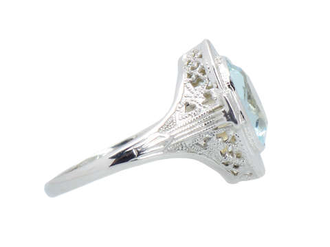Vintage Soul - Aquamarine Filigree Ring
