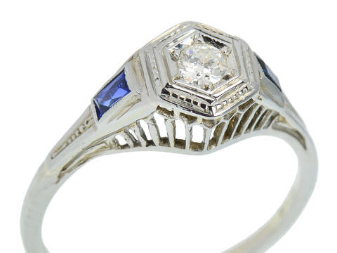Vintage Art Deco Engagement Ring