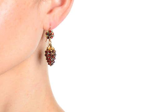 Georgian Grape Cluster Motif Gold Earrings
