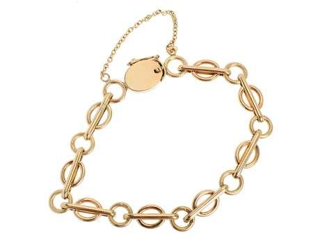 Charmed I'm Sure - Antique Gold Link Bracelet