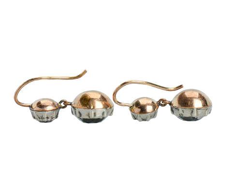 Antique Georgian Double Drop Paste Earrings