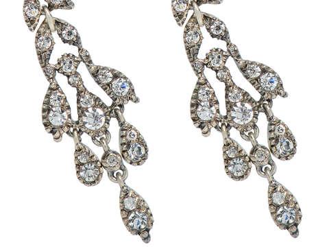 Night Magic - Paste Dangle Earrings in Sterling