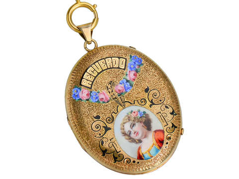 Recuerdo - Memorable Enamel Locket & Chain