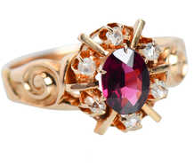 Christmas Past - Garnet Edwardian Ring of 1895
