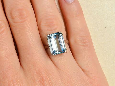Shades of Sky - Vintage Aquamarine Ring