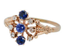 Aglow - Antique Sapphire Diamond Ring