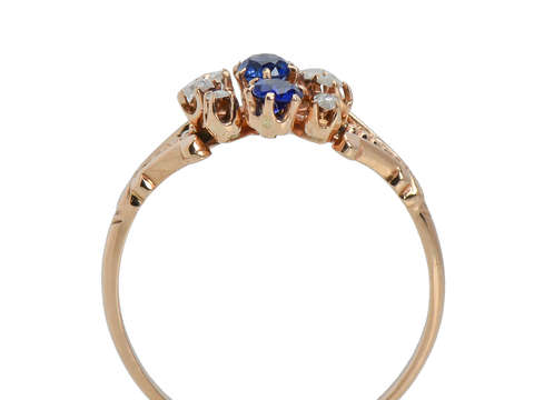 Aglow - Antique Sapphire Diamond Ring