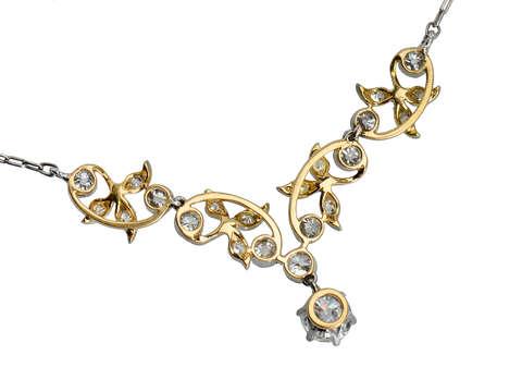 Shimmering Leaves - Edwardian Antique Necklace