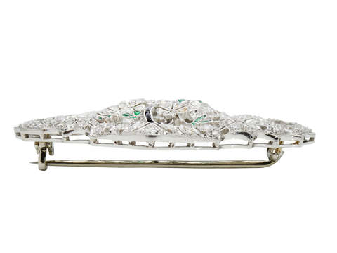 Vintage Basket of Diamonds Brooch