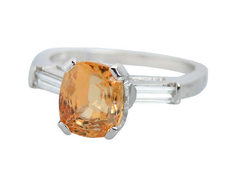 Sensation - Vintage Sunshine Yellow Garnet Ring