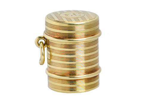Take A Chance - Liar's Dice Gold Pendant Locket