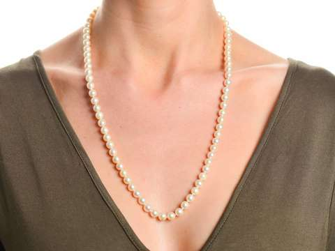 Estate Strand of White Cultured Pearls