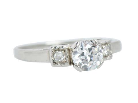 Be Mine - Vintage Diamond Engagement Ring