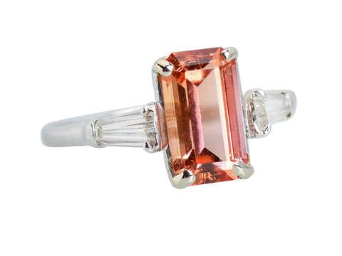 Imperial Topaz Diamond Vintage Ring