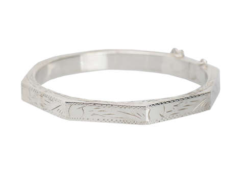 Angled for Style - Octagonal Bangle