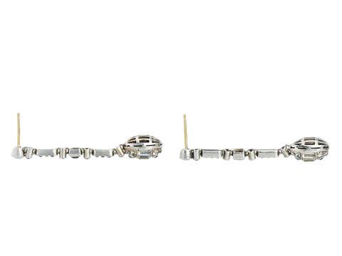 German Art Deco Paste Dangle Earrings