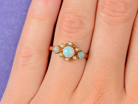 Daydream - Vintage Opal Pearl Ring