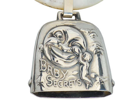 Antique Man in the Moon Baby Secrets Rattle