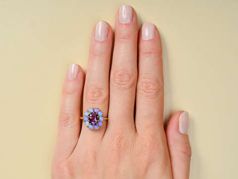 Lilac Lovely - Vintage Amethyst Opal Ring