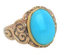 Art Nouveau Turquoise Cabochon Ring