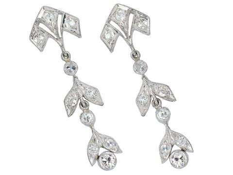 Renewal - Antique Diamond Earrings
