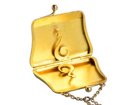 Pocket Change - Antique Gold Purse Locket