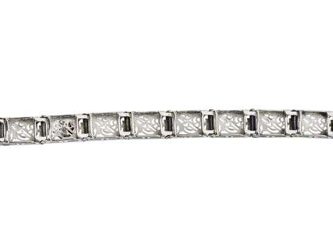 Vintage Diamond Filigree Link Bracelet