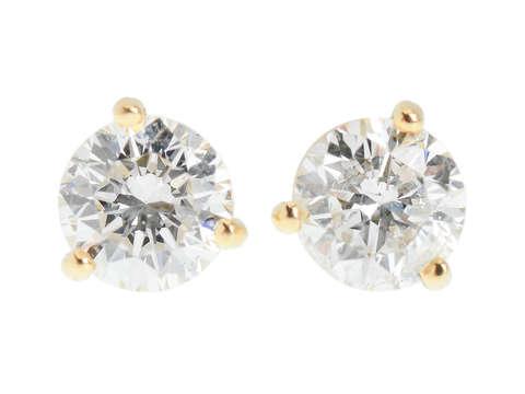 Timeless Vintage Diamond Stud Earrings 1.27 C.