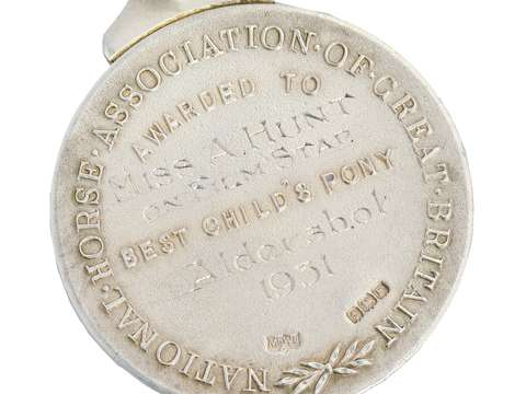 Silver Horse Medal - Child's Pony of 1931
