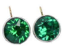 Emerald Colored Paste 7 C. Dangle Earrings