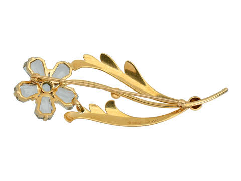 Tiffany & Co. Aquamarine Retro Flower Brooch