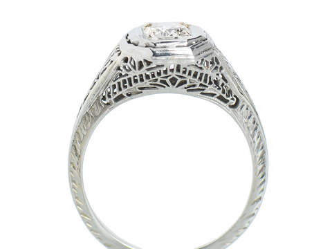 White Wedding - Diamond Filigree Engagement Ring