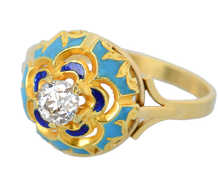 Dome of Heaven - Diamond Enamel Ring