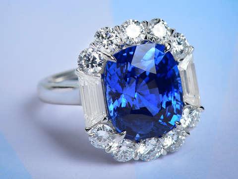 Sapphire Grandeur in a Diamond Ring