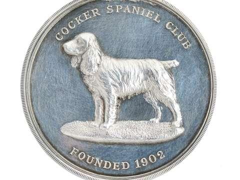 Cocker Spaniel Sterling Silver Dog Pendant - 1927