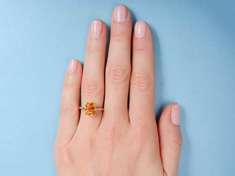 Golden Days - Sunny Citrine Gold Vintage Ring