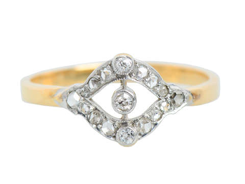 Edwardian Antique Delicacy in a Diamond Ring