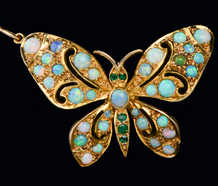 Butterfly Bliss - Opal Emerald Pendant