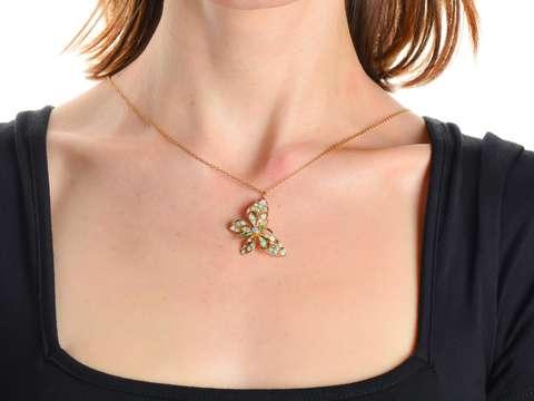 Butterfly Bliss - Opal Emerald Pendant