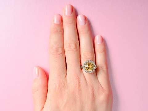 Antique Precious Topaz Cluster Ring
